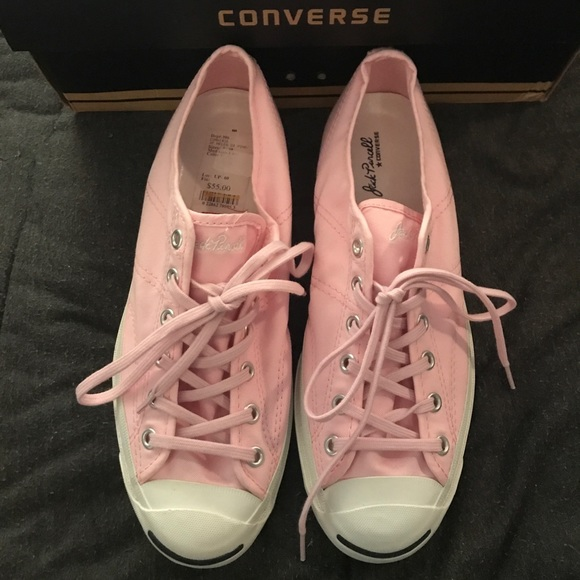 86dec8c56162 NEW Pink Jack Purcell Converse